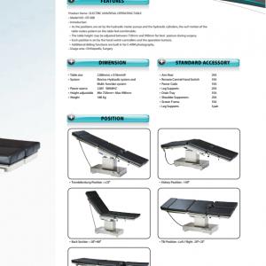 Bảng giá sản phẩm Bàn mổ đa năng điều khiển bằng điện OT-500